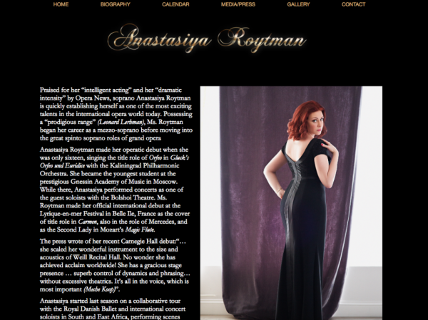Biography page design